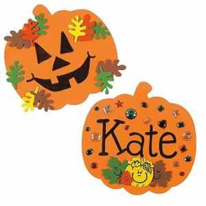 Easy foam pumpkin craft for kids