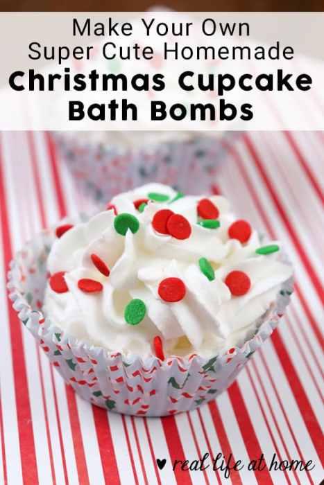 How to Make Your Own Homemade Cupcake Christmas Bath Bombs