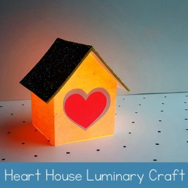 Heart House Luminary Craft with Free Printable Template | Real Life at Home