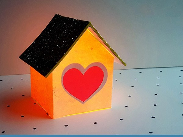 Heart House Luminary Craft for Kids (with Free Template)