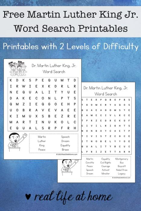 martin luther king jr worksheets with answer key