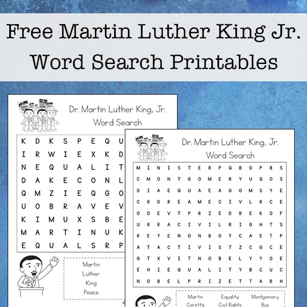 photograph relating to Martin Luther King Word Search Printable identified as No cost Martin Luther King Jr. Term Glance Printable for Young children