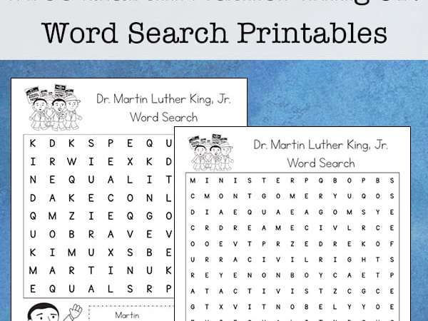 Free Martin Luther King Jr. Word Search Printable