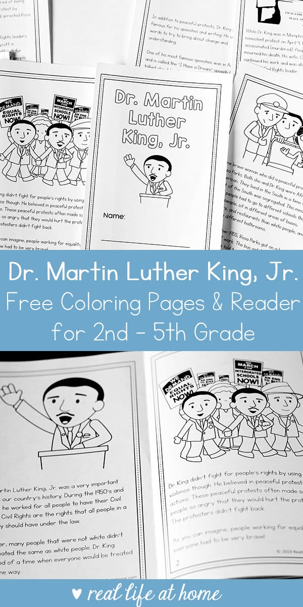 graphic regarding Printable Books for 2nd Graders identify Dr. Martin Luther King Jr. Printable Reserve for 2nd - 5th Quality