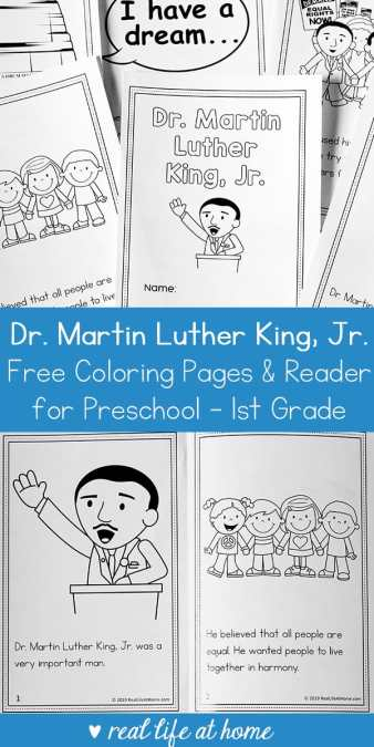 Martin Luther King Jr Coloring Book And Reader Printable For