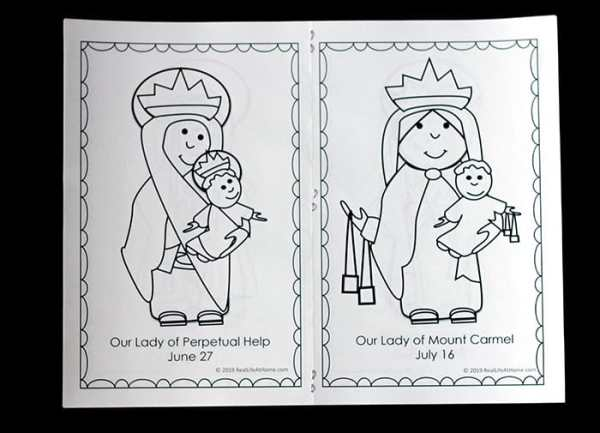 Free Mary Coloring Book from Real Life at Home