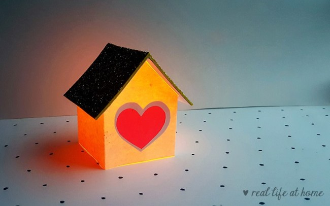 Heart House Lantern Craft for Kids from Real Life at Home