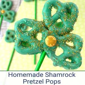 These easy Shamrock Pretzel Pops are perfect as a fun Saint Patrick's Day Snack for kids. They can also be used when learning about the Holy Trinity.