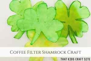 Coffee Filter Saint Patrick's Day Craft