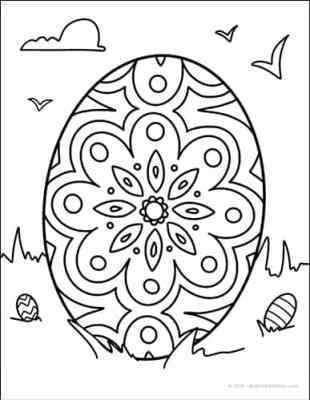 Free Easter Egg Coloring Sheet - Download at Real Life at Home