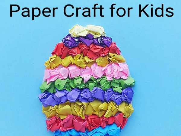 Easy Easter Craft for Kids: Easter Egg Paper Craft with Free Template