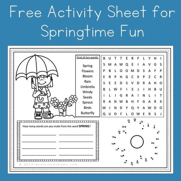 picture relating to Free Printable Games for Adults identified as Free of charge Spring Match Web page Printable for Young children (Enjoyment Recreation