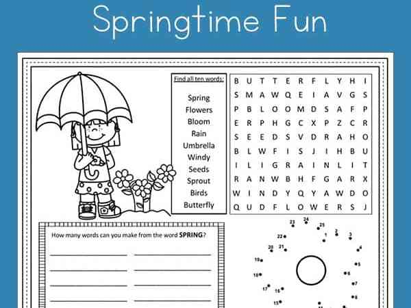 Free Spring Activity Page Printable