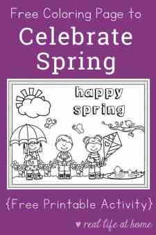Free Printable Spring Coloring Page for Kids | Real Life at Home