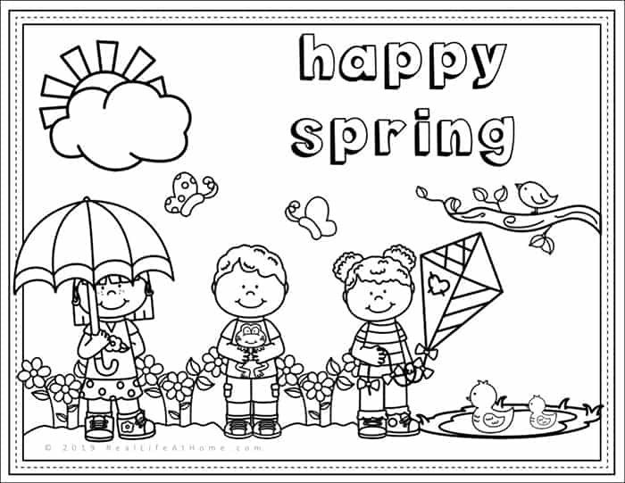 photograph regarding Spring Coloring Sheets Printable identified as Content Spring - Absolutely free Spring Coloring Webpage Printable for Children