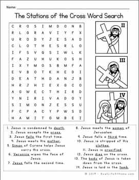 Stations of the Cross Word Search Printable from Real Life at Home