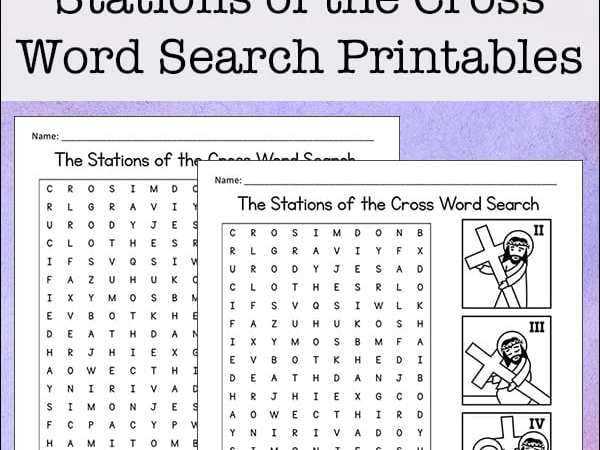 Stations of the Cross Word Search Free Printable