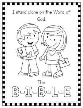 The B-I-B-L-E Song Coloring Pages Free Printables (The Bible Song)