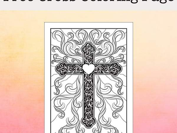 Free Religious Cross Coloring Page (Perfect for Easter and All Year)