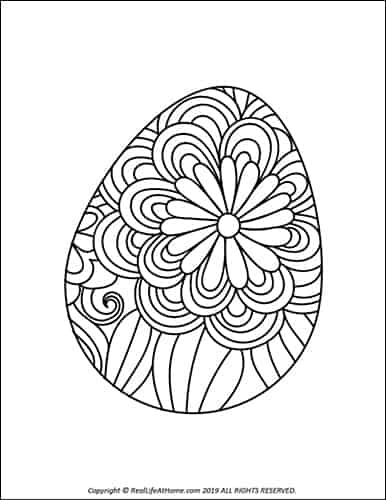 picture regarding Free Printable Easter Eggs called Easter Egg Coloring Web pages (Free of charge Printable Easter Egg