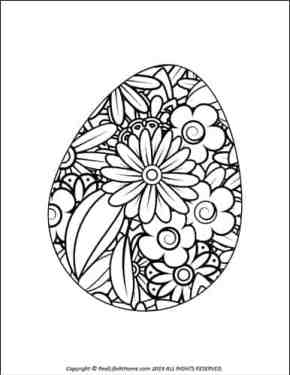 Easter Egg Coloring Sheet from the Free Easter Egg Coloring Book from Real Life at Home