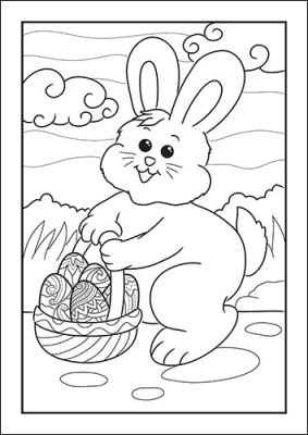 Free Printable Easter Bunny Coloring Page from Real Life at Home
