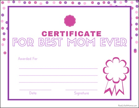 picture about Mother's Day Printable called Cost-free Printable Moms Working day Questionnaire, Certification, and