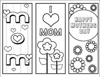 Free Color Your Own Mother's Day Bookmarks from Real Life at Home