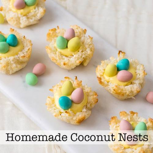 Easy Homemade Coconut Nest | Perfect for Easter or Spring, these easy-to-make coconut nest cookies are a darling addition to your dessert. | Real Life at Home