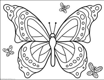 Free Butterfly Coloring Page available from Real Life at Home