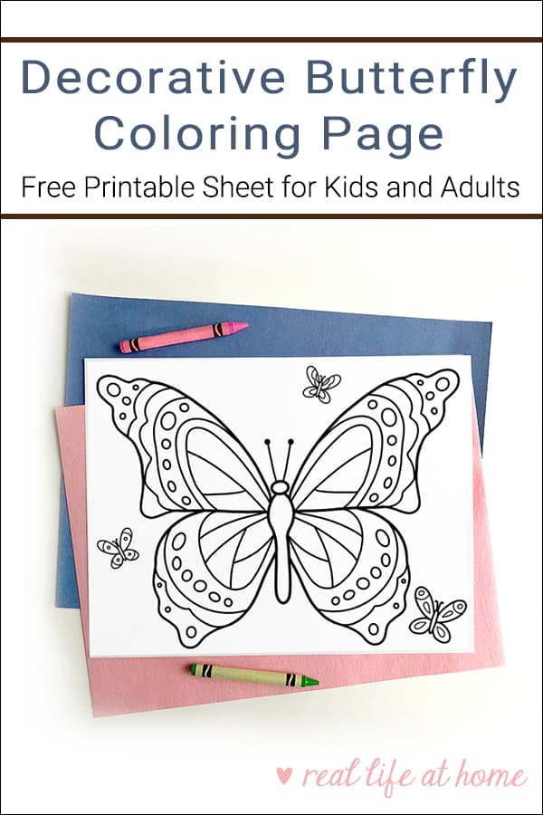 photo about Printable Butterflies identified as No cost Printable Butterfly Coloring Website page for Small children and Older people