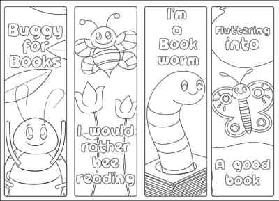 Free Printable Bug Bookmarks for Kids to Color from Real Life at Home
