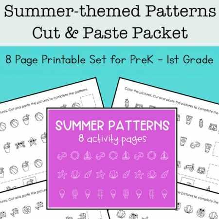 Summer Math Patterns Printables Set