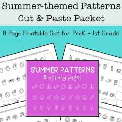 Summer Math Patterns Printables Set