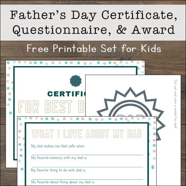 It is a photo of Father's Day Questionnaire Free Printable regarding favorite thing