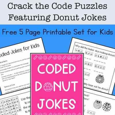 Need some brain teasers and problem solving for kids? They'll enjoy these free printable Crack the Code Puzzles featuring some silly donut jokes. | Real Life at Home