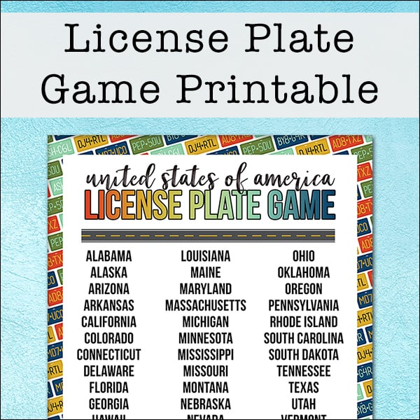 photo about Printable License Plate Game titled Totally free Country License Plate Activity Printable for Generate Exciting