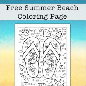 summer beach flip flop coloring page free printable summer beach flip flop coloring page