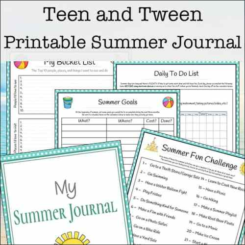 Printable Summer Journaling Pages for Teens and Tweens | Real Life at Home