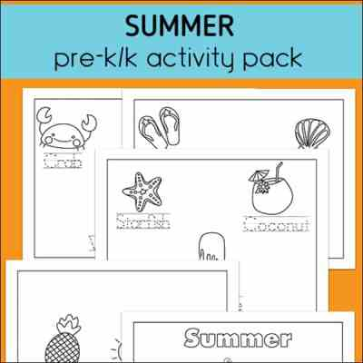 Summer Preschool and Kindergarten Activity Packet (Free Printable)