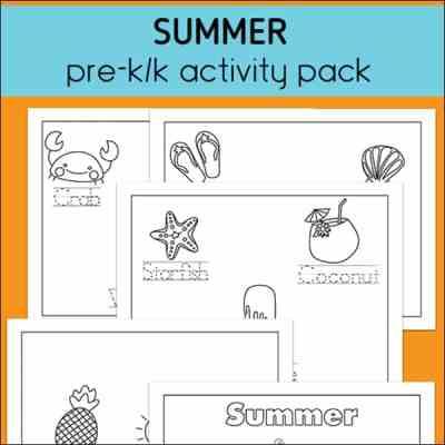 Summer Preschool and Kindergarten Activity Packet (Free Printable)