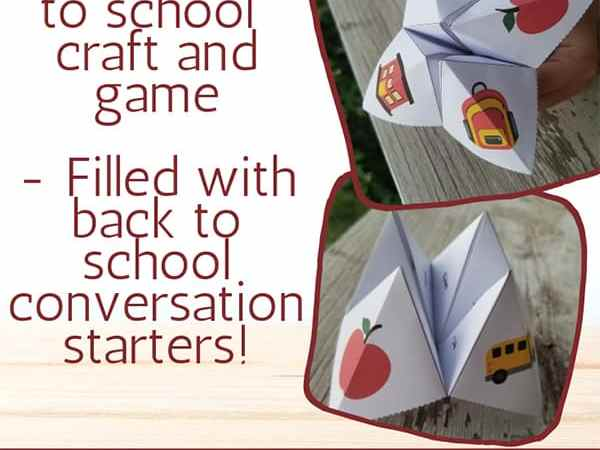 Free Printable Back to School Fortune Teller (aka Chatterbox or Cootie Catcher)