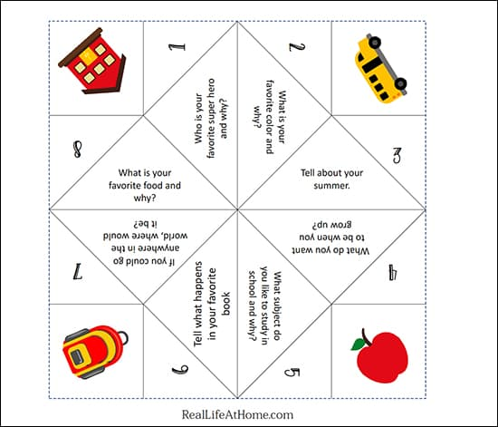 photograph relating to Printable Cootie Catcher referred to as Absolutely free Printable Again in the direction of College Fortune Teller or Cootie Catcher