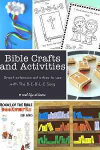 Here's a large collection of Bible Crafts and Activities (perfect extension activities to use as The Bible Song crafts and projects)