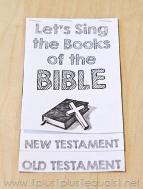 Let's Sing the Books of the Bible free printable booklet