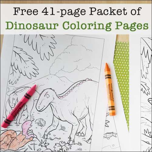 Free Dinosaur Coloring Pages for Kids
