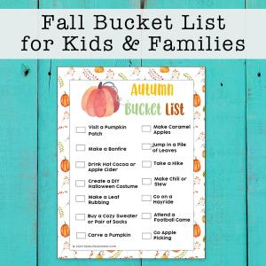 Autumn Bucket List for Kids and Families