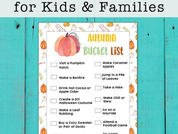 Fall Bucket List for Kids and Families (Free Printable)