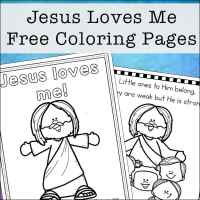 Jesus Loves Me Coloring Pages - Free Printables Set for Kids
