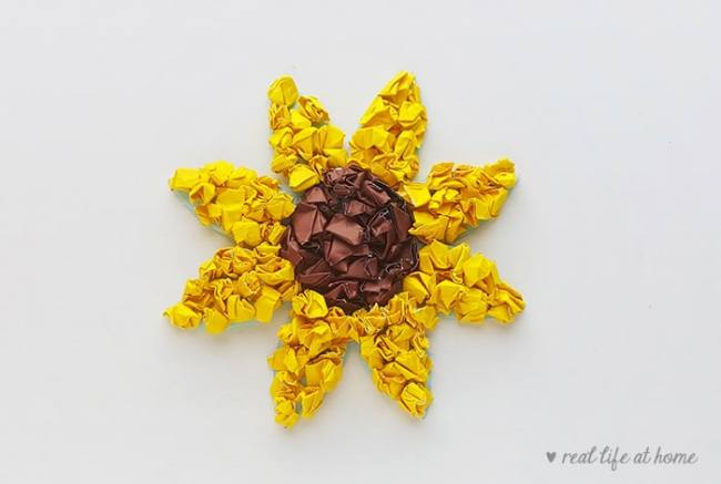 Easy Sunflower Paper Craft for Kids